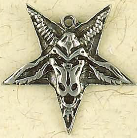 Goat Baphomet Inverted Pentagram Charm