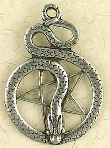 Pentacle of the Snake Amulet Pendant