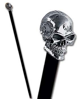 Alchemy Gothic The Alchemist Skull Walking Cane