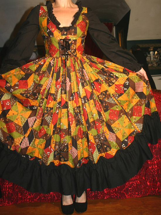 Vintage Autumn Colors Renaissance Faire Dress S