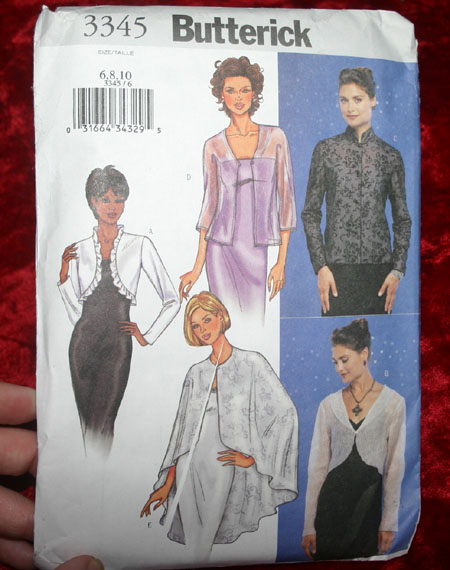 Butterick Ladies Shrug Bolero Capelet Pattern 3345