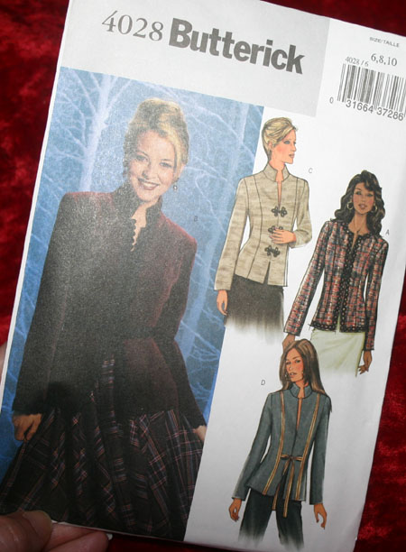 Butterick Ladies Equestrian Type Jacket Pattern 4028