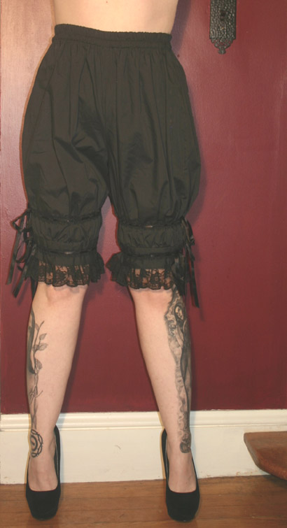 Gothic Victorian Ladies Black Bloomers Pantaloons