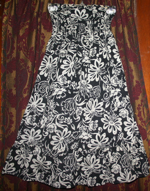 Black Ivory Floral Strapless Summer Mini Dress S
