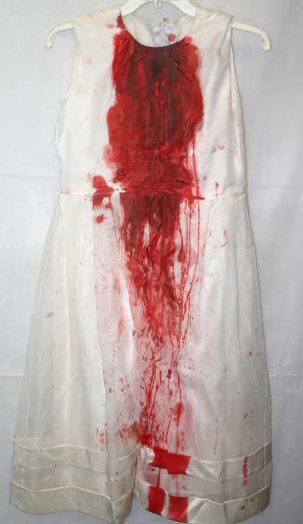 Vintage White Bloody Mess Gown Halloween Vampire