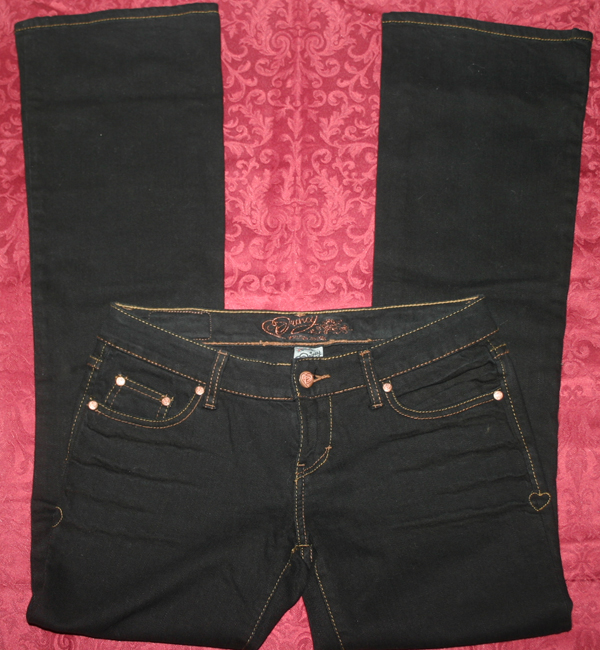 Jessica Simpson Princy Low Boy Black Jeans Sz 3