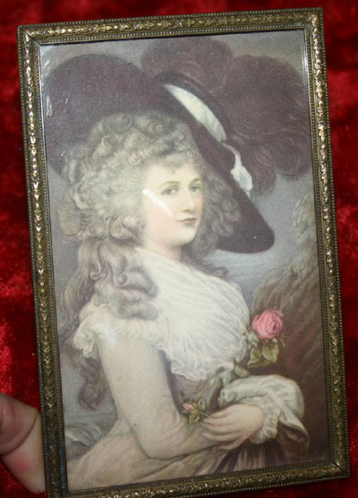 Victorian Woman in Hat Framed Picture