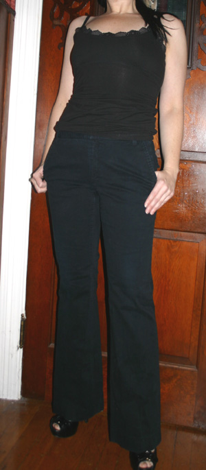 Banana Republic Black Stretch Bootcut Cargo Pants Sz 4