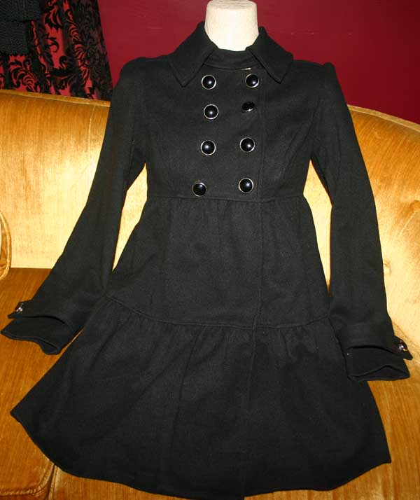Retro Vintage Look Black Russian Spy Coat Small