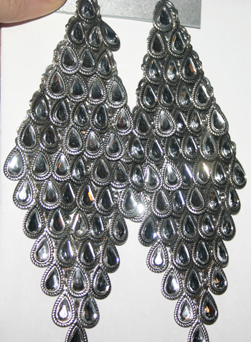 Vintage Dramatic Rhinestone Duster Shoulder Earrings