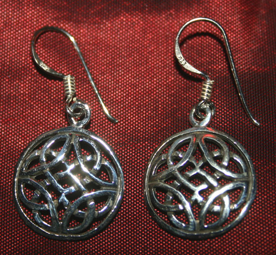 Vintage Celtic Knot Sterling Silver Dangle Earrings