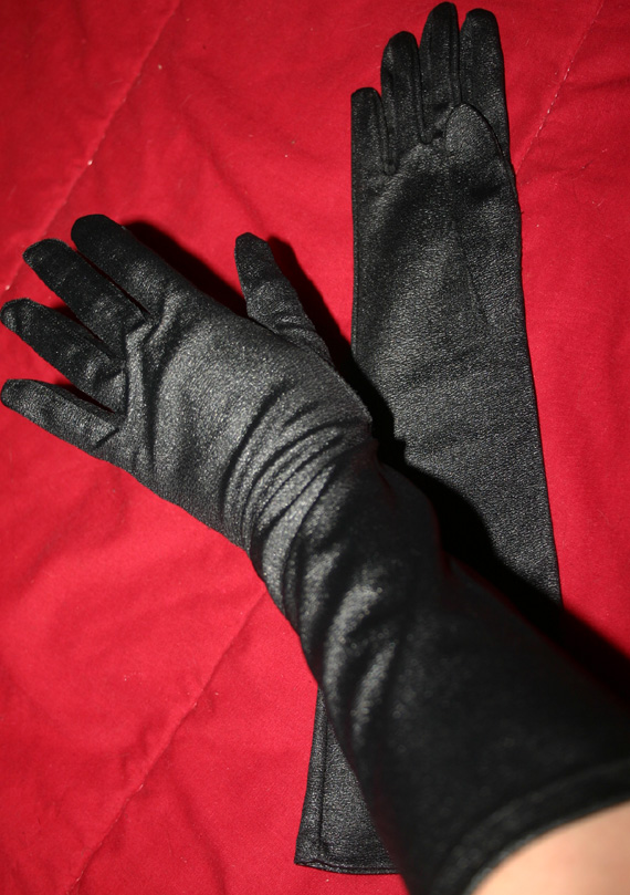 Vintage 1950s Black Crescendoe Leather Tailored Gloves