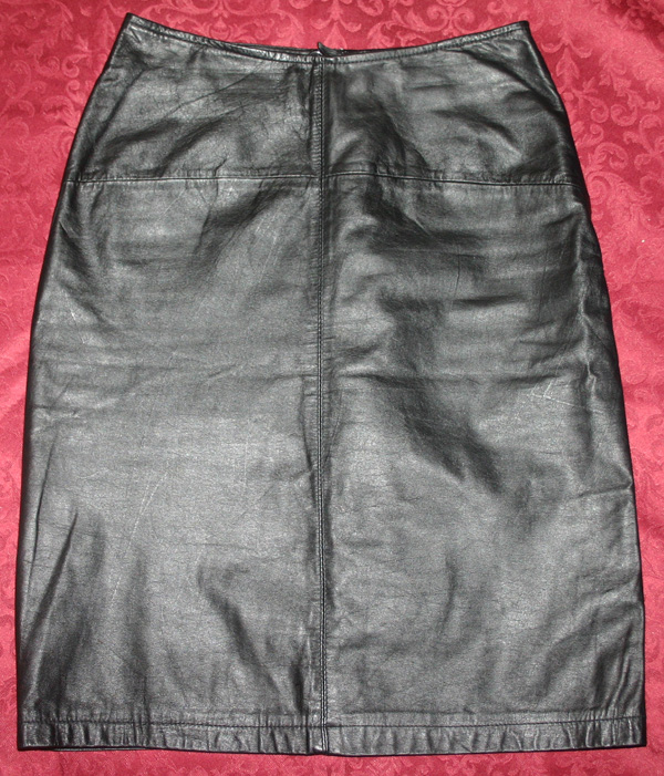 Limited Express Black Leather Fetish Pencil Skirt Sz 3