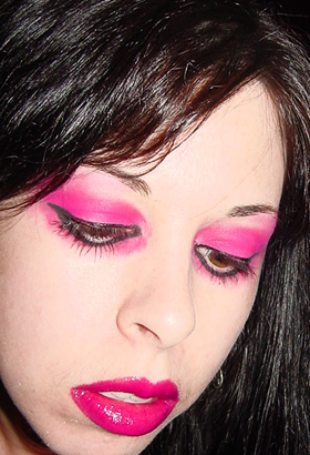 Bloody Mark Goth Punk Hot Pink Fuschia Eye Shadow