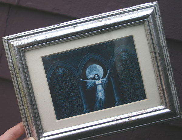 Monolith Graphics Ghost Girl Postcard in Frame