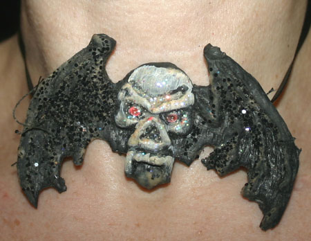 Gothic Vampire Skull Wings Choker