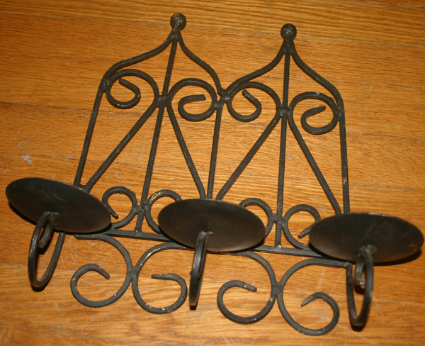 Vintage Gothic Arch Large Iron Wall Candle Holder