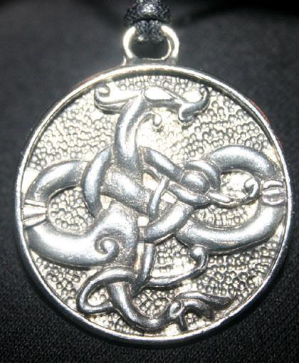 Odin Gotland Dragon Pewter Pendant Amulet
