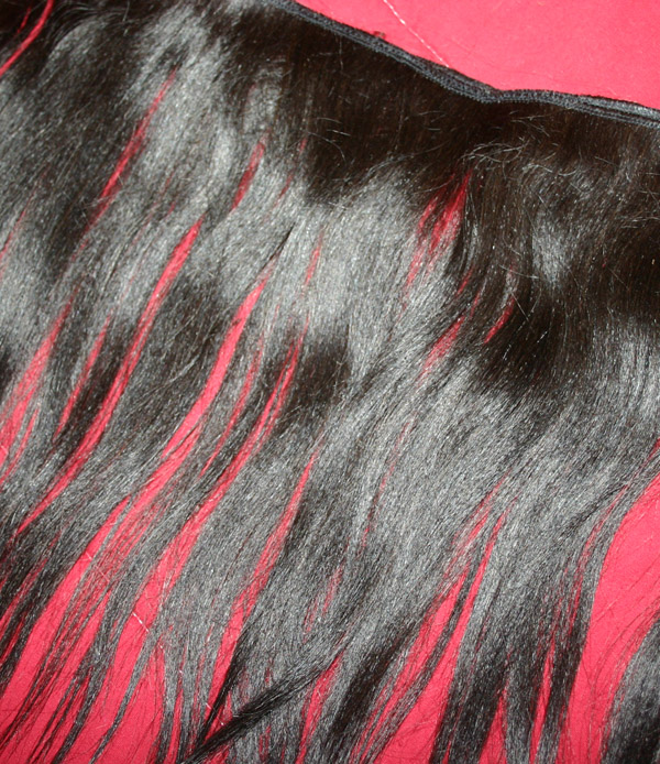 Quality Human Hair Black Hair Weft Extensions 15 Inch