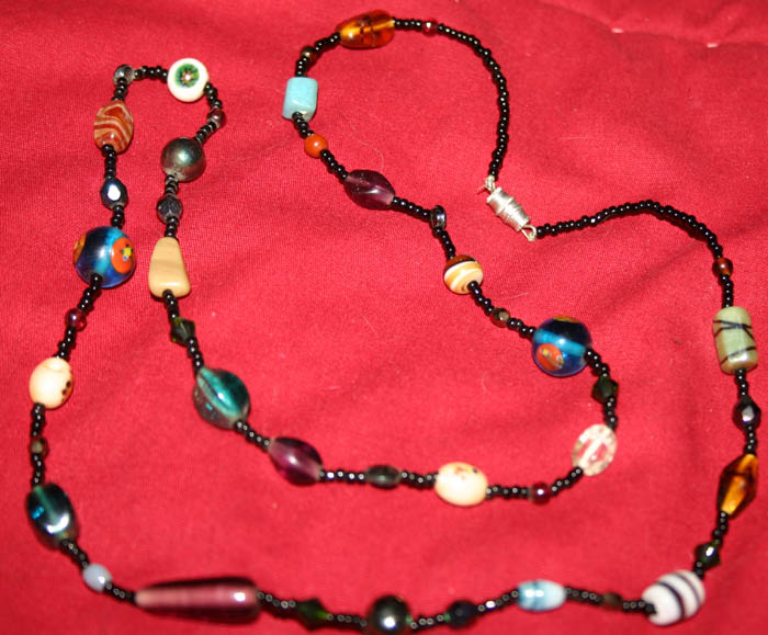 Handcrafted Glass Beads 30 Inch Necklace