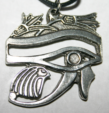 Egyptian Eye of Horus Awareness Wisdom Amulet Pendant
