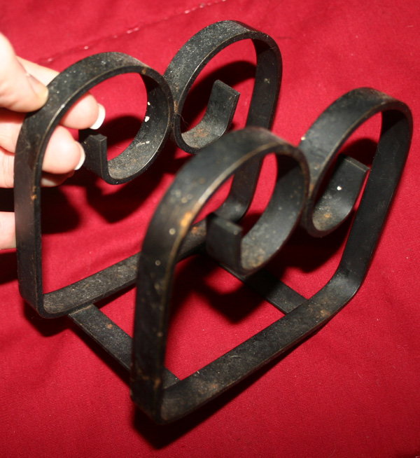 Vintage Wrought Iron Gothic Napkin Holder