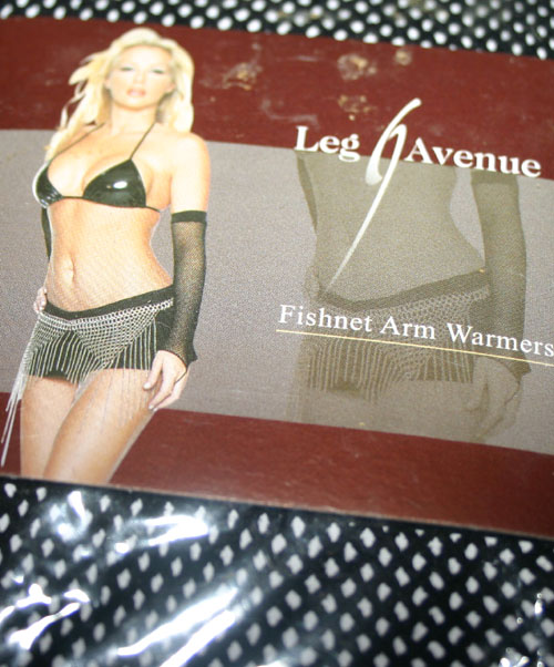 Black Fishnet Arm Warmers Gloves