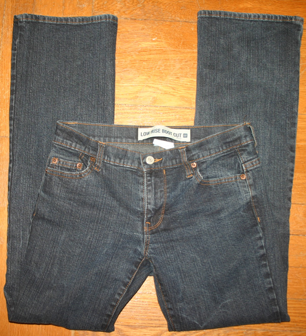 Gap Dark Wash Ladies Lowrise Boot Cut Jeans Sz 2