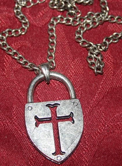 Steampunk BDSM Gothic Cross Padlock Necklace