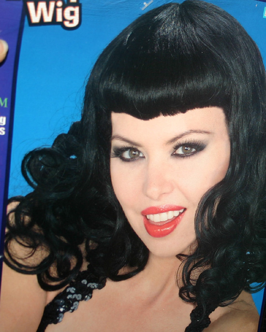 Bettie Page Hairstyle Bangs 1950s Pin Up Girl Wig