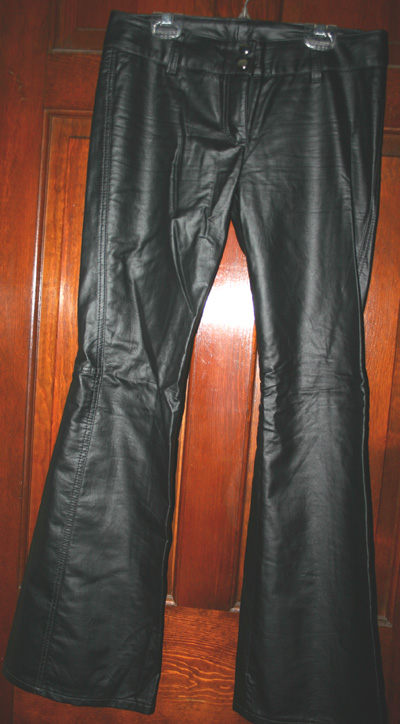 Lip Service Vegi Leather Black Lowrise Bootcut Pants