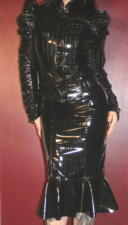 Lip Service Diamond Dynasty Black Vinyl Corset Jacket