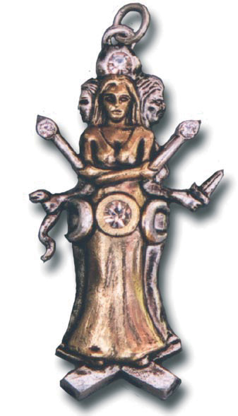 Triple Goddess Hecate Renewal Pendant