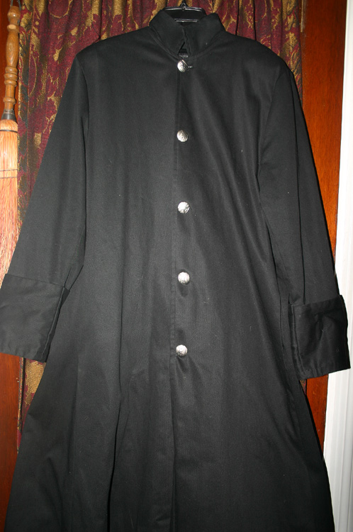 Vintage Mens Black Vampire Pirate Matrix Coat Med Lg