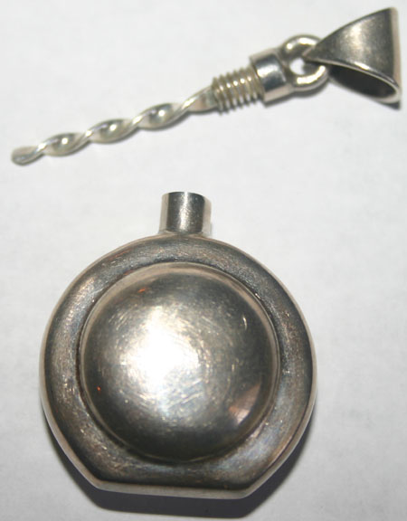 Vintage Sterling Silver Mexico Perfume Dabber Pendant