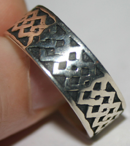 Vintage Mens Sterling Silver Celtic Knot Band Ring Sz 12