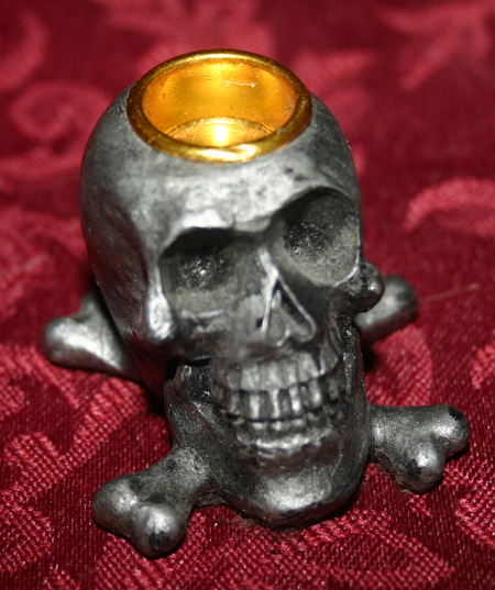 Skull and Crossbones Mini Candle Holder