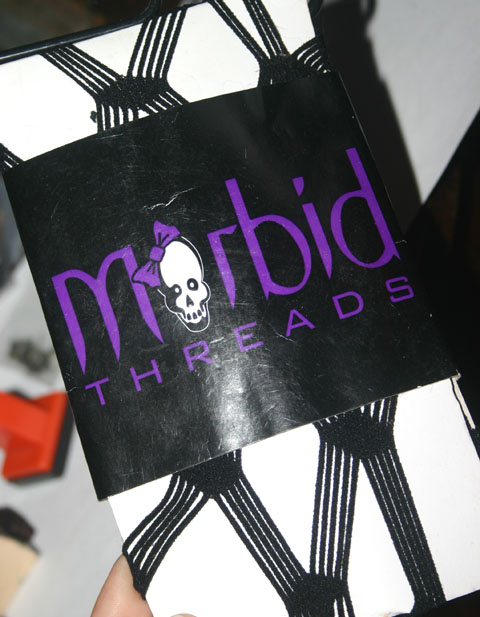 Morbid Threads Black Diamond Net Pantyhose