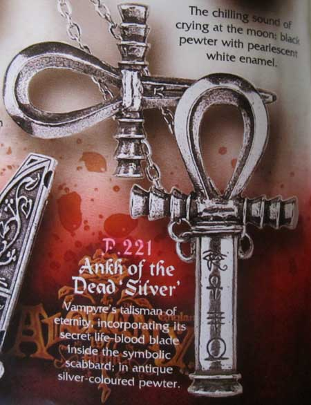Alchemy Gothic Ankh Of The Dead Pendant