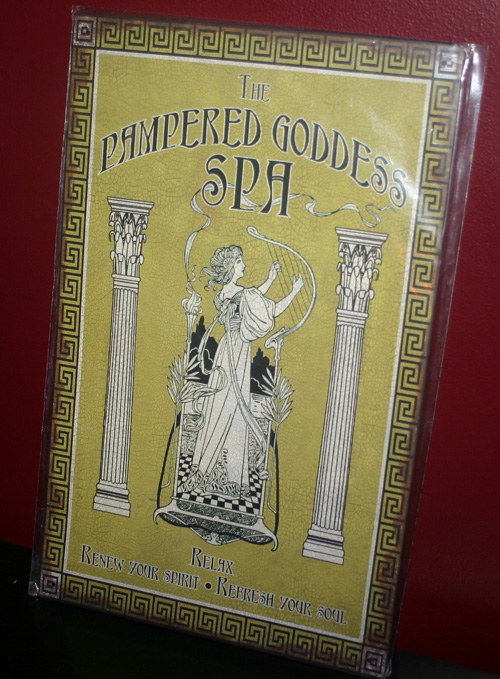 Art Nouveau Pampered Goddess Tin Advertising Sign