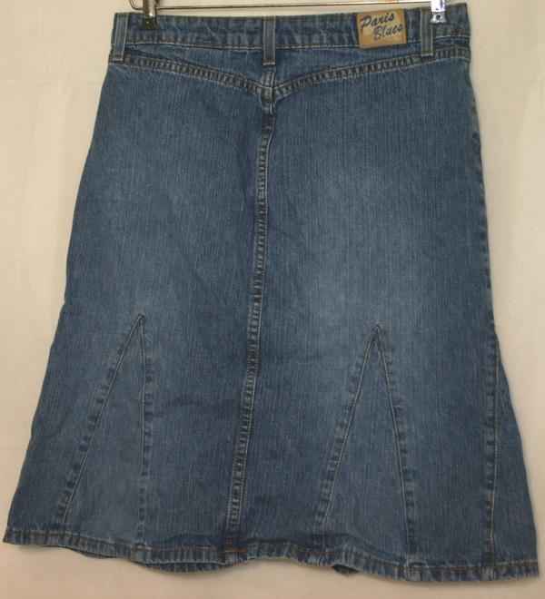blues denim flare skirt size 5
