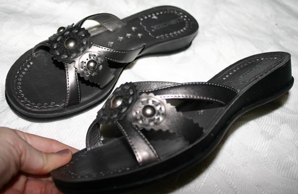 Pewter Gray Bohemian Sandals 6 1/2