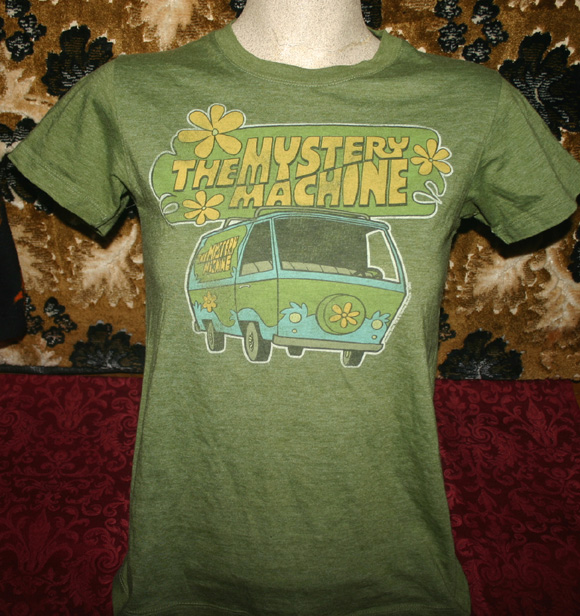 Scooby Doo Mystery Machine Ladies T-Shirt M