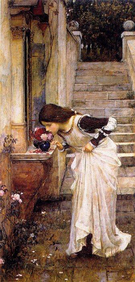 John William Waterhouse The Shrine Print 12x36""