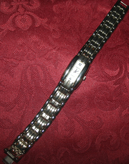 Ladies Silver Tone Capezio Chain Link Watch