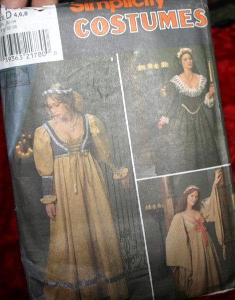 Simplicity Costumes Pattern Renaissance Gown
