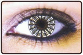 Pair Spiderweb Contact Lenses