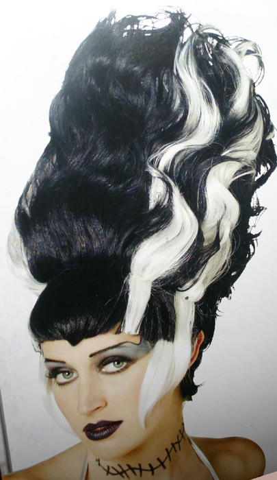 Club Transylvania Bride of Frankenstein Wig