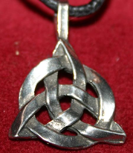 Pewter Celtic Knot Eternity Amulet Pendant