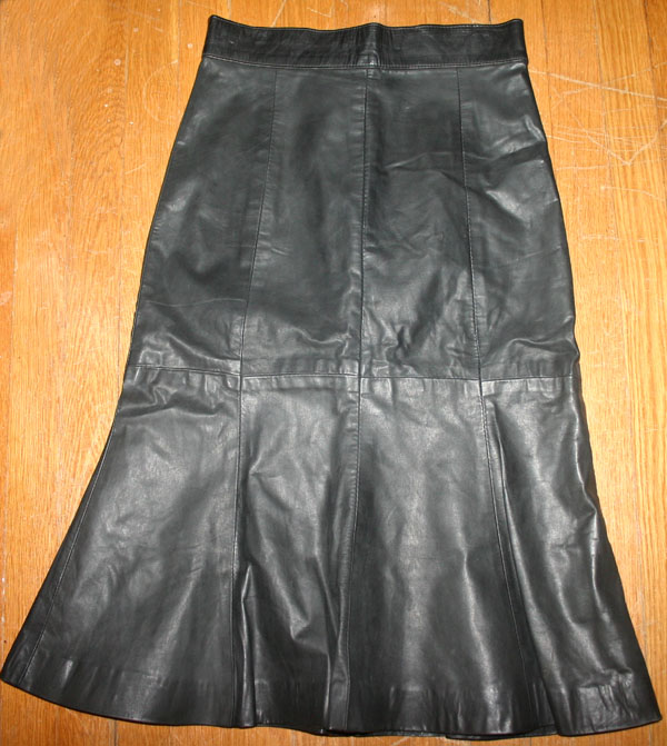 Vintage Fetish Black Leather Mermaid Hobble Skirt